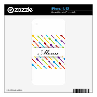 Design element with spoons and fork decal for the iPhone 4