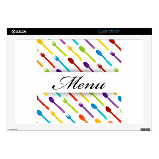 Design element with spoons and fork laptop decal