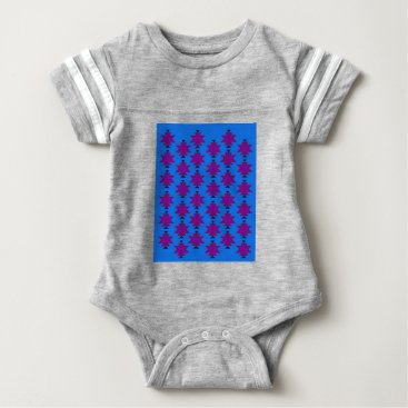 Aztec Themed Design elements aztecs blue baby bodysuit