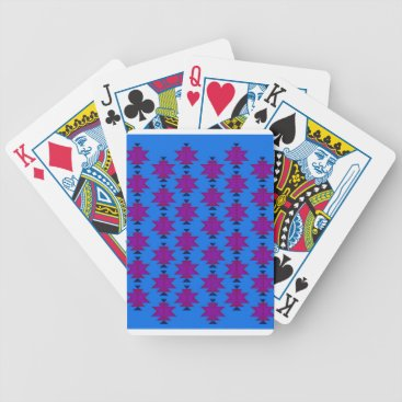 Aztec Themed Design elements aztecs blue bicycle playing cards