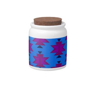 Aztec Themed Design elements aztecs blue candy dish