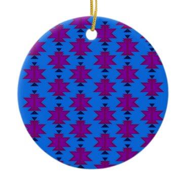 Aztec Themed Design elements aztecs blue ceramic ornament
