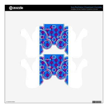 Aztec Themed Design elements aztecs blue decal for PS3 controller