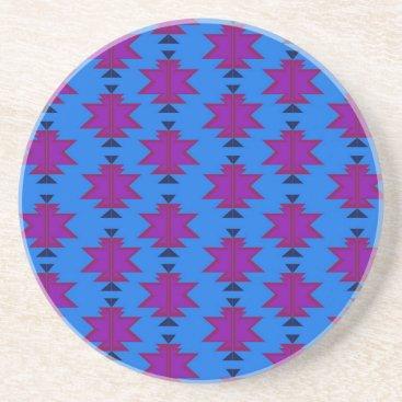 Aztec Themed Design elements aztecs blue drink coaster