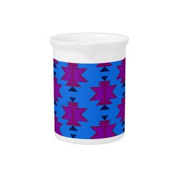 Aztec Themed Design elements aztecs blue drink pitcher