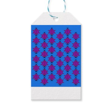 Aztec Themed Design elements aztecs blue gift tags