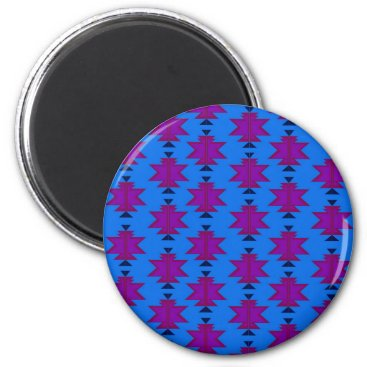 Aztec Themed Design elements aztecs blue magnet