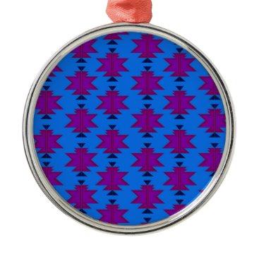 Aztec Themed Design elements aztecs blue metal ornament
