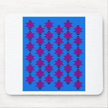 Design elements aztecs blue mouse pad