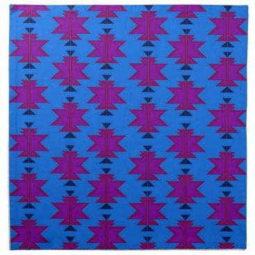 Aztec Themed Design elements aztecs blue napkin