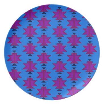 Aztec Themed Design elements aztecs blue plate