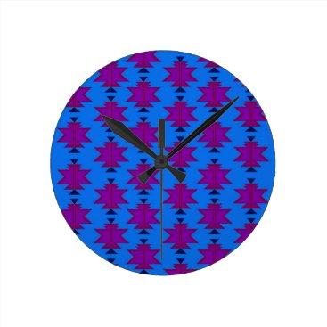 Design elements aztecs blue round clock