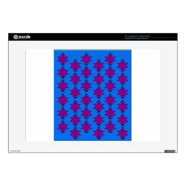 "Aztec Themed Design elements aztecs blue skin for 15"" laptop"