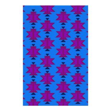Aztec Themed Design elements aztecs blue stationery