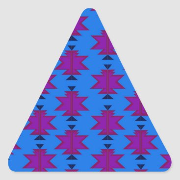 Aztec Themed Design elements aztecs blue triangle sticker