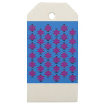 Aztec Themed Design elements aztecs blue wooden gift tags