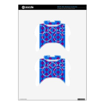 Aztec Themed Design elements aztecs blue xbox 360 controller skin