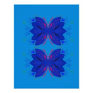 Design elements blue letterhead