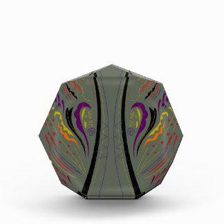 Design elements classic grey acrylic award