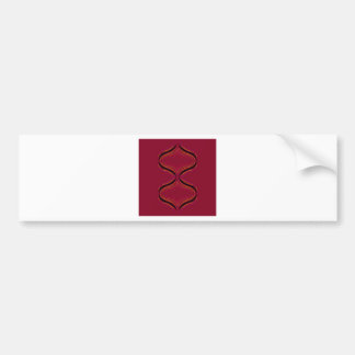 Design elements deep  Red Bumper Sticker