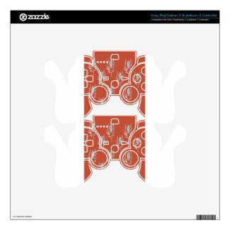 Design elements Eco Brown PS3 Controller Decal
