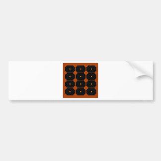 Design elements ethno black, brown bumper sticker