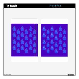 Design elements ethno blue skin for kindle fire