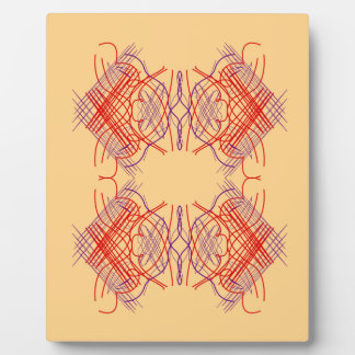 Design elements exotic  Red Beige Plaque