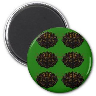 Design elements green black eco magnet