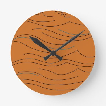 Design elements hot aztecs round clock