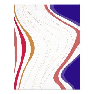 Design elements lines letterhead