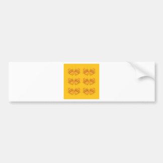 Design elements on black bumper sticker