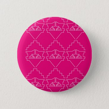 Aztec Themed Design elements on pink button