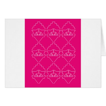 Aztec Themed Design elements on pink card