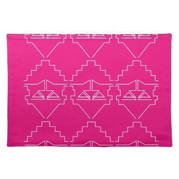 Aztec Themed Design elements on pink placemat