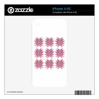 Design elements on white decal for the iPhone 4S