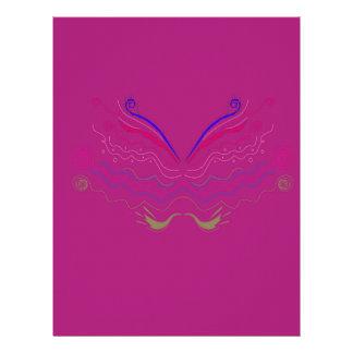 Design elements Pink Letterhead