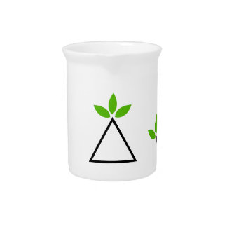 Design elements set with green foliage beverage pitchers