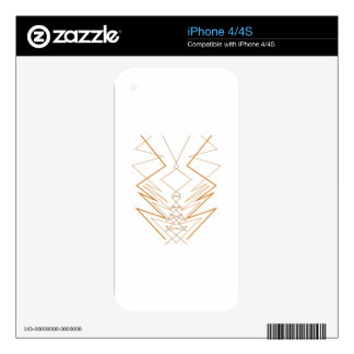Design elements zig zag on white skin for the iPhone 4