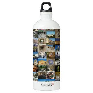 Design Exclusivo 100 Faces de Jerusalém Aluminum Water Bottle