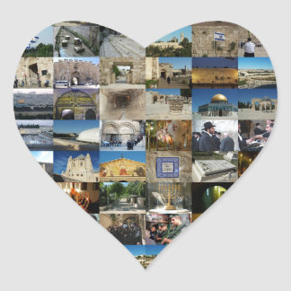 Design Exclusivo 100 Faces de Jerusalém Heart Sticker