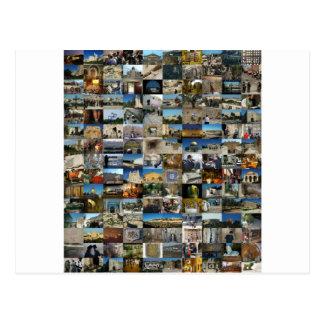 Design Exclusivo 100 Faces de Jerusalém Postcard