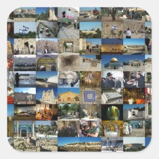 Design Exclusivo 100 Faces de Jerusalém Square Sticker