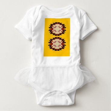 Aztec Themed Design exotic aztecs Gold Baby Bodysuit