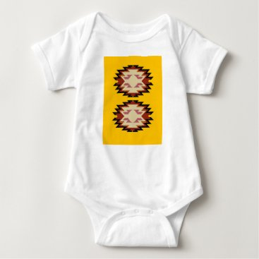 Aztec Themed Design exotic aztecs Gold Baby Bodysuit