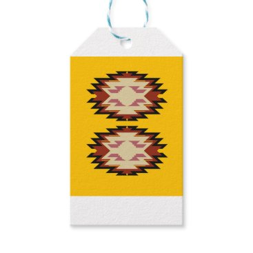 Aztec Themed Design exotic aztecs Gold Gift Tags