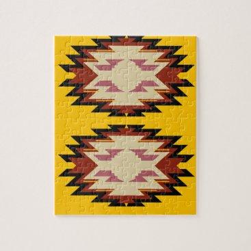 Aztec Themed Design exotic aztecs Gold Jigsaw Puzzle