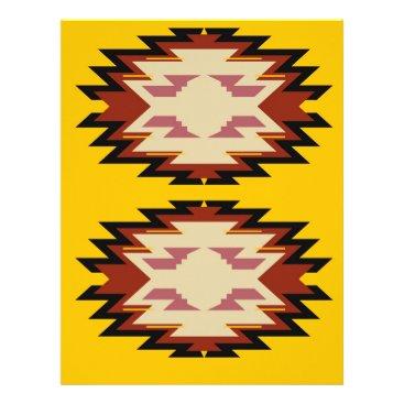 Aztec Themed Design exotic aztecs Gold Letterhead