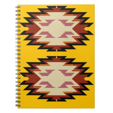 Aztec Themed Design exotic aztecs Gold Notebook