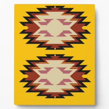 Aztec Themed Design exotic aztecs Gold Plaque